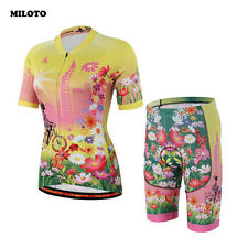 MILOTO Women Team Comfortable Cycling Jersey Bike Short Sleeve Clothing Bicycle