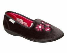 WOMENS DR KELLER DARK GREY DIAMANTE COSY SLIP ON SLIPPERS MULES LADIES SIZE 3-8