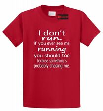 I Don't Run If You See Me Running You Should Too Funny T Shirt Gym Marathon Tee