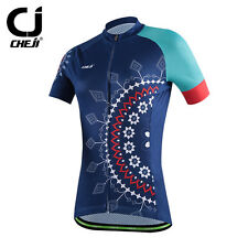 Navy Cheji Brand Cycling Jersey Top Bicycle Maillot Bike Wear Womens MTB Clothes