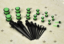 23 Pcs Hot Expander Set 14G-00G 1.6mm-10mm Stretchers Ear Taper+ PLUG Kit Gauges