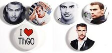 "Set of 6 Theo James 1.25"" Pinback Buttons Flat Backs or Magnets (Set #2)"