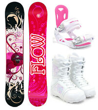 2017 FLOW Tula 147cm Women's Snowboard+M3 Bindings+M3 Boots NEW