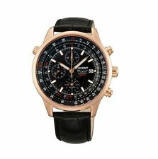 Orient Dyno FTD09004B0 Black Dial Black Leather Band Men's Watches