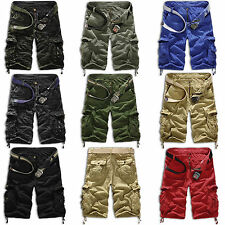 Mens Shorts Military Army Combat Trousers Tactical Work Pocket Camo Pants Cargo