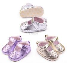 Princess Infant Kids Baby Girls Shoes Soft Sole Leather Slip On Sandals 0-12M