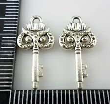 40/400pcs Tibetan Silver Owl key Charms Pendant 10x21mm  (Lead-free)