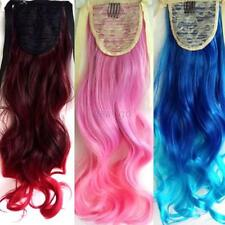 1Pc Clip in Synthetic Hair Extension Rainbow Long Wavy Curly Hair 53cm Hairpiece