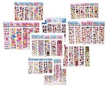 STICKERS LOT GIRL'S FAVORS STICKERS - 3D PUFFY SCRAPBOOKING PARTY FAVORS CRAFTS
