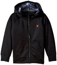 NEW Toddler Boys Sz 2T 3T HURLEY Black Coral Full Zip Hoodie Jacket Kids Youth
