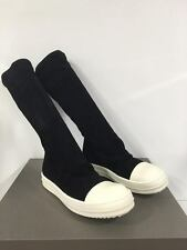 Rick Owens Mainline Sock Sneaker in Black Suede Leather Brand New With Box