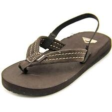 Quiksilver Carver Toddler  Open Toe Suede Brown Thong Sandal NWOB
