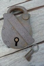 Antique Padlock with one working key