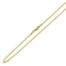 3mm 14K Yellow Gold Chain Concaved Light Curb Chain Necklace / Gift box