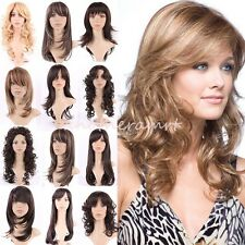 Heat Resistant Long Full Wigs Brown Blonde Mix Ombre Hair Daily Party Wig Cos KQ