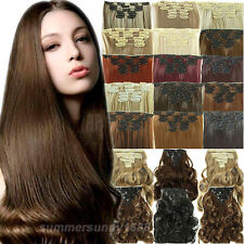 Deluxe Extra Thick Full Head Clip in on Hair Extensions as remy hair style sm17