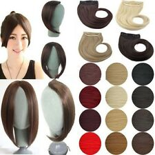 100% Thick Long Side Fringe Bangs Clip In Hair Extensions Brown Blonde Black n21