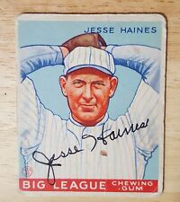 1933 Goudey #73 Jesse Haines autographed signed