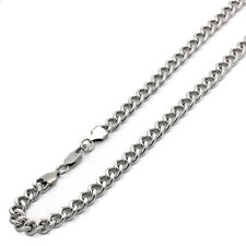 Men's 9mm Stainless Steel Chain Necklaces Cuban Link Curb Chain / Gift box
