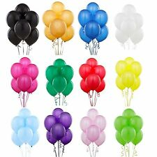 "100 Pack 10"" Latex Balloons For  Birthday Wedding Anniversary Party Decorations"