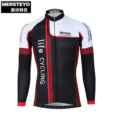 MERSTEYO MERSTEYO Men bike sport bicycle road Cycling jersey Long sleeve/winter