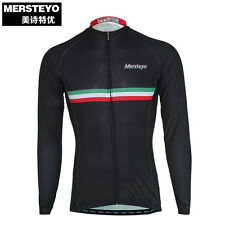 MERSTEYO Men's Long Sleeve Cycling Clothing Breathable Bike Jersey Sport Cycle