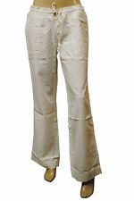 Womens Joe Fresh Cargo LINEN Trousers Ivory White Size 8 to 20 Ladies C7