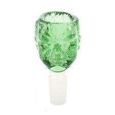 Glass Slide Bowl Man-head Style Huge Deep Bowl 14mm/18mm(Green)