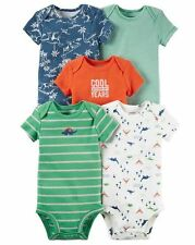 New Carter's 5 Pack Bodysuits Dinosaurs NWT Size NB 3 6 9m 12m 18m 24m Dino