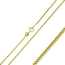 Pure 1.9mm 925 Sterling Silver Curb Chain Necklace / Gold Plated made in italy
