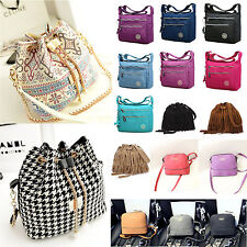 Womens Girl's Sling Shoulder Bag Cross Body Tote Message Bags Zip  Hobo Bags New