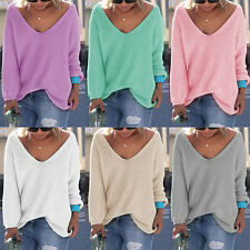New Women Knitted Cardigan Knitwear Loose Casual Sweater Jumper Pullover Outwear