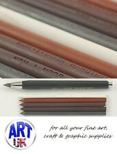 Koh-I-Noor Hardtmuth 5.6mm Clutch Pencil/Spare Leads Graphite Sepia White Russet