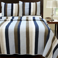 Cozy Line Home Fashion Nathan Striped Quilt Set