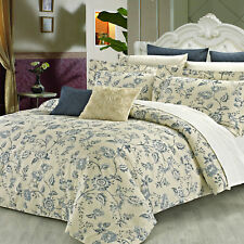 North Home Wedgewood 3 Piece Reversible Duvet Cover Set
