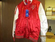 NFL-TAMPA BAY BUCCANEERS-LADIES RED & WHITE SATEEN CHEER JACKET