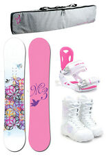 M3 ESCAPE 154 Womens Snowboard+Luna Bindings+M3 Boots+Padded Bag NEW