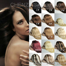 "Tengda 16"" 7PCS Clip In Remy Straight Human Hair Extensions 70g 100g 7pcs 40cm"