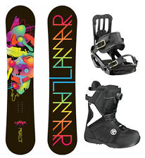 Lamar MERLOT 151cm Snowboard+Salomon Bindings+Flow Vega BOA Boots NEW