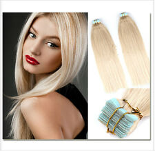 Hot 100% Remy  20 pcs #613 Blonde PU Tape-In Extensions Human Hair Extensions