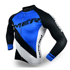 Mens Merida Reflective Cycling Jersey Top Long Sleeve Winter Bicycle Bike Jersey
