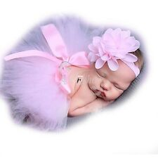 Infant Newborn Baby Girls Skirt Tutu Clothes Knitted Crochet Photo Prop Outfits