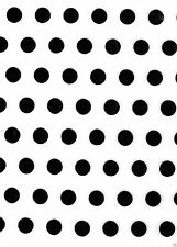 Polka Dot Craft Felt A4 Rectangles 23x30cm Acrylic - WHITE & BLACK DOTS