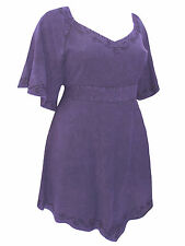 PLUS SIZE eaonplus PURPLE Medieval Embroidered Blouse Tunic Top Sz 18/20 - 30/32