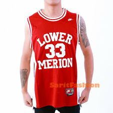Kobe Bryant 33 Lower Merion High School Basketball Jersey White Red Stiched New