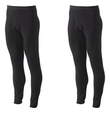 LOT OF 2 Croft & Barrow Men's Tall LT XLT Black Thermal Underwear Base Pants NEW