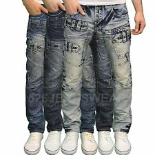 Eto Mens Designer Branded Funky Distressed Style Regular Fit Jeans, BNWT