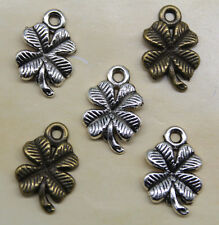 Free shipping 30/100/300pcs Four Leaf Clover alloy charms pendants 17*12*2mm