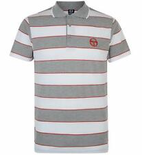 New Sergio Tacchini Hetton Stripe Mens Polo T Shirt Top S - 2XL vintage casual