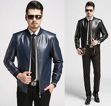 Mens Business Jackets Leather Outwear Motorcycle Biker Jacket Coat Hipster